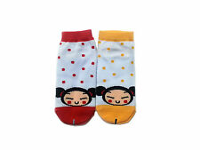 Pucca Red & Yellow Polka Dot 2 Pairs Women's Casual Low Ankle Socks Size 6-9