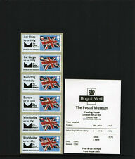 NEW BPMA POSTAL MUSEUM FLAG undated COLLECTOR STRIP B6GB16 JUNE 2016 Post Go
