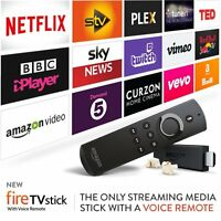 AMAZON FIRE TV STICK WITH VOICE WITH LATEST KODI FREE SPORT MOVIES KIDS OR ADULT