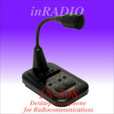 INRADIO IN-508 - TOP MICROPHONE with AMPLIFIER for ICOM KENWOOD YAESU ALINCO etc