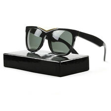 RETROSUPERFUTURE Super Gino 034 Sunglasses Black Gold with Black Zeiss Lenses