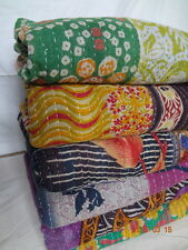 5 Pcs Lot Vintage kantha Quilts Reversible Bed Cover Wholesale Lot Blanket Throw