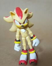 "Sega Jazwares 3"" Sonic The Hedgehog Super Shadow Jointed Action Figure Toy"