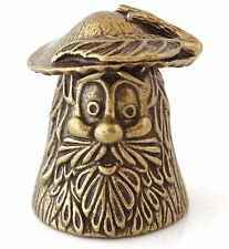 "Mushroom Brass Thimble Decorative Collectible Russian Souvenir 1"" Tall"