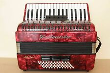 Weltmeister Meteor ACCORDION 60 BASS AKKORDEON Red + Case