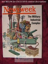 NEWSWEEK Magazine June 9 1969 MILITARY-INDUSTRIAL COMPLEX GHETTOS Apollo Moon