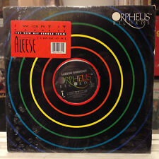 "SEALED 12""~ALEESE SIMMONS~I Want It~[x4 Mixes/Remixes]~[1989 ORPHEUS Issue]"
