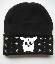 KIDS GIRLS CUTE BLACK BEANIE HAT STREET DANCE SWAG BEENIE GHETTO BLING
