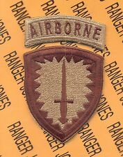 US Army Special Operations Command Europe Airborne SOCEUR DESERT DCU patch c/e