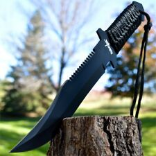 "12"" TACTICAL SURVIVAL Razorback Rambo FIXED BLADE KNIFE Army Bowie w/ SHEATH"