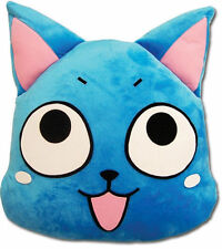 "Brand New Fairy Tail 16"" Happy Face Cat blue Cushion Pillow hot anime soft"