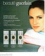 PUBLICITE ADVERTISING 066  1978  Guerlain  cosmétiques lotions démaiqullants