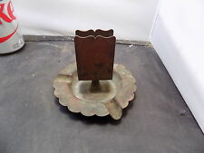 antique  bronze signed arts and crafts antique copper ash tray