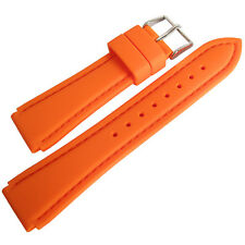 18mm Hadley-Roma MS3346 Orange Silicone Rubber Waterproof Dive Watch Band Strap