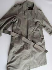 Vintage London Fog Tailored Green Lined +Zip Out Liner Long Raincoat/Trenchcoat