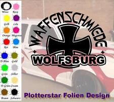 Waffenschmiede Wolfsburg nr3 Iron Cross Sticker Aufkleber Fun Geil Like Tuning