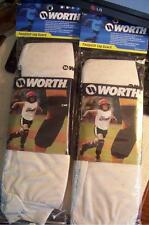 2 Sets of Worth Fastpitch Sliding Leg Guards New No stains  White /Youth Size L