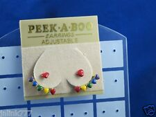 f111:New Peek-A-Boo Adjustable Earrings from USA-Made in Korea