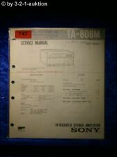 Sony Service Manual TA 808M Amplifier  (#0747)