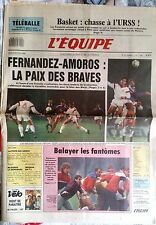 L'Equipe Journal 4/2/1988; Fernandez-Amoros/ Basket-URSS/ McEnroe/ Modena