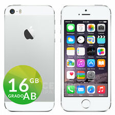 APPLE IPHONE 5S 16GB iOS 9 ORIGINALE SILVER BIANCO ACCESSORI GARANZIA + CORRIERE