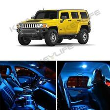 14) Bright Ice Blue Interior LED Package Bulbs for 2005-2010 Hummer H3