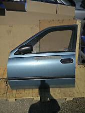 Nissan Sunny N14 '90-'95 - Tür vorne links Scheibe Spiegel Verkleidung - blau