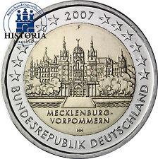 Deutschland 2 Euro Gedenkmünze 2007 bfr. Schweriner Schloss Mzz. F