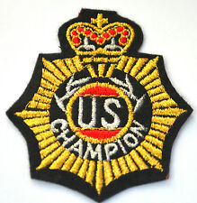 US CHAMPION MEDAL CREST  Embroidered Sew Iron On Cloth Patch Badge APPLIQUE