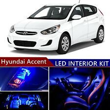 9pcs LED Blue Light Interior Package Kit for Hyundai Accent 2015-2016