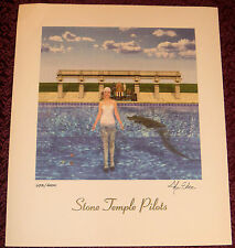 STONE TEMPLE PILOTS STP Tiny Music Litho ~ SIGNED LP ALBUM COVER ART LITHOGRAPH