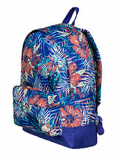 ROXY WOMENS/GIRLS RUCKSACK/BACKPACK BAG.SUGAR BABY BLUE FLOWER 16L 7S/406/PQF6