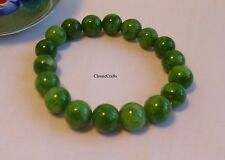 Genuine natural Green han Jade (cold jade) 8mm round beads bracelet