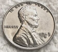 1943-D STEEL LINCOLN CENT PULLED FROM OBW ROLL FROM AN OLD COLLECTION WOW