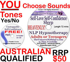 SELF-CONFIDENCE SELF-LOVE SLEEP CLINICAL HYPNOTHERAPY HYPNOSIS CD or MP3 NLP New