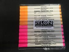 Dylon Fabric Painting Pen with Brush-like Nib [PACK-OF-12]