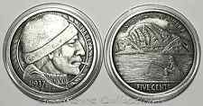 "Hobo Nickel ""The Fisherman"" 1oz 999 Silver Antique Proof Round-Only 1K-Box/COA"