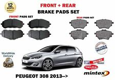 FOR PEUGEOT 308 1.6 THP 1.6 HDI 2013   NEW FRONT + REAR BRAKE DISC PADS SET