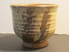 Peter Leach Large Studio Pottery Yunomi Tea Cup With Decoration, Marked