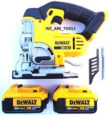 DeWalt DCS331 20V Cordless Variable Speed Jig Saw,2) DCB204 Battery Max 20 Volt