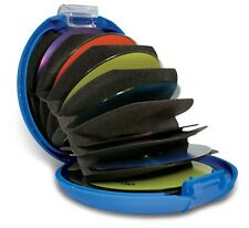 DiscGear Discus 20s Portable Disc Storage Case for 20 CDs, DVD Holder BLUE