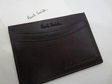 Paul Smith carta di credito/Business Card Custodia in pelle brunita lavorato a mano