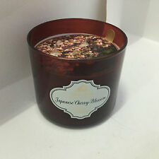 NEW! BATH & BODY WORKS HOME 3-WICK SCENTED CANDLE - JAPANESE CHERRY BLOSSOM