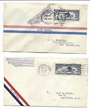 US First Flight Cover FFC Lot of 2 - CAM 23 - Alabama - 1928 - SC C10*