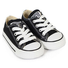 Converse Infants/Toddlers Black Lace All Star Classic Sneakers Childs Size 9