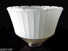 """ViNTaGe~Antique 8"""" PaNeLeD~Rib ArT DeCo GLaSs Floor~Torchiere~Table Lamp Shade"""