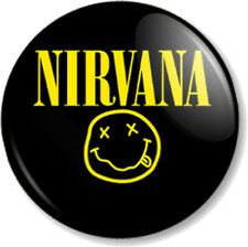 "NIRVANA 25mm 1"" Pin Button Badge Rock Grunge Band Kurt Cobain Dave Grohl Music"