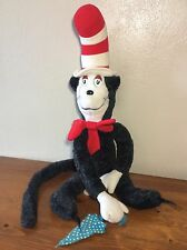 """Vintage 1983 Dr. Suess Cat In The Hat 27"""" With Umbrella Plush Doll Coleco"""