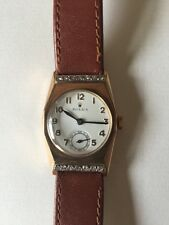 Genuine 1940's Vintage Rolex 9ct Gold On Leather Strap Highly Collectable Watch