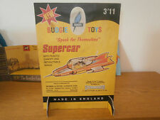 BUDGIE TOYS 272 GERRY ANDERSON SUPERCAR USED CARD SHOP COUNTER DISPLAY 1962